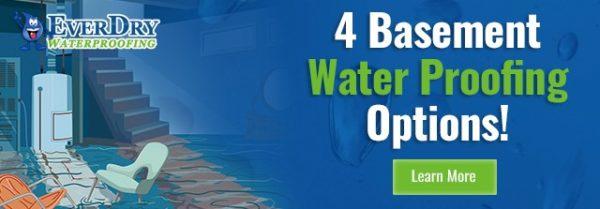 4 Basement Waterproofing Options Info Graphic