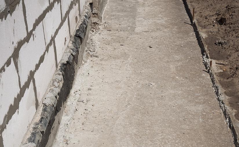 A basement foundation